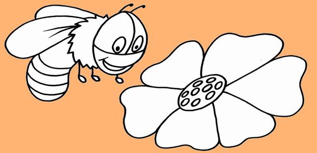לחצו על דפי הצביעה של דבורים להגדלה ולהדפסה