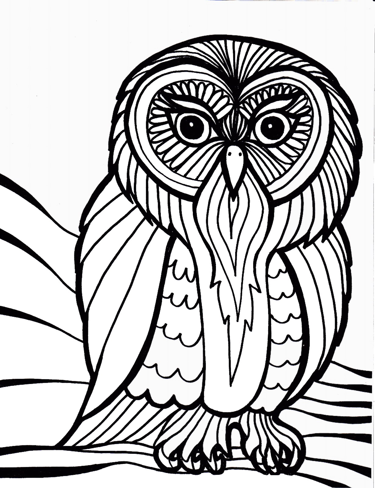 difficult bird coloring pages - photo #35