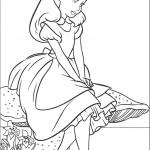 דף צביעה אליס בארץ הפלאות 4