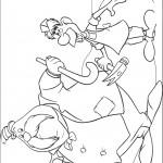 דף צביעה סוס הים והנגר