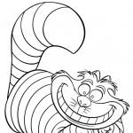 דף צביעה החתול הוורוד צ'שייר