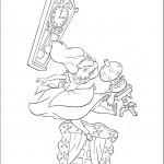 דף צביעה אליס בארץ הפלאות 2