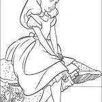דף צביעה אליס בארץ הפלאות 1