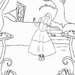 דף צביעה אליס מבחינה במחילה