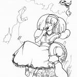 אליס וצ'שייר בגינת הפרחים