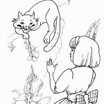 דף צביעה אליס והחתול צ'שייר