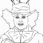 דף צביעה הכובען המטורף