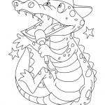 דף צביעה תנין פוצח בשירה