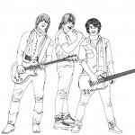דף צביעה להקת רוק בהופעה 3