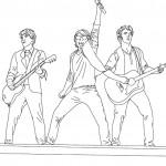 דף צביעה להקת רוק בהופעה 1