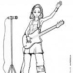 דף צביעה זמרת עם גיטרה 1