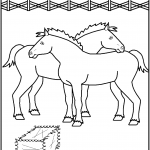 דף צביעה סוס 13