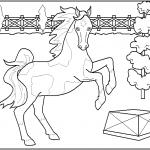 דף צביעה סוס במופע