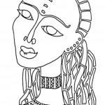דף צביעה אישה מתקופה מצריים הקדומה