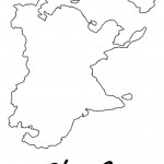 דף צביעה מפת יבשת אסיה