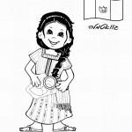 דף צביעה ילדה מגוואטמלה