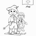 דף צביעה ילד וילדה משוויץ