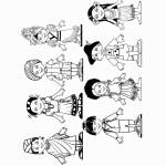 דף צביעה ילדים מארצות שונות