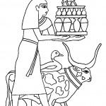 ציור אופייני למצריים העתיקה