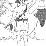 דף צביעה האל היווני דיוניסוס