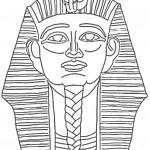דף צביעה המלך פרעה