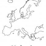דף צביעה מפת יבשת אירופה