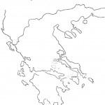 דף צביעה מפת יוון