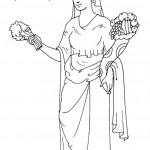 דף צביעה אלה מהמיתולוגיה היוונית