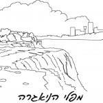 דף צביעה מפלי הניאגרה