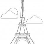 דף צביעה מגדל אייפל בצרפת