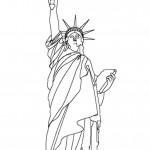 דף צביעה פסל החירות בארצות הברית