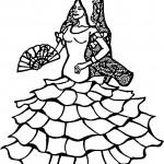 דף צביעה רקדנית פלמנקו מספרד