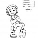 דף צביעה ילד מגרמניה
