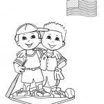 דף צביעה ילדים מארצות הברית