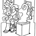 דף צביעה ביקור בתערוכת ציור ופיסול