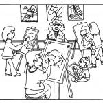 דף צביעה כיתת ציור