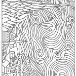 דף צביעה ציור של הצייר ואן גוך