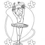דף צביעה רקדנית 3