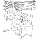 דף צביעה שיעור בלט