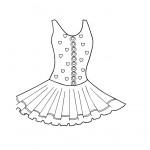דף צביעה רקדנית 2