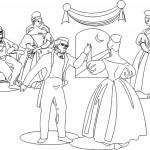 דף צביעה ריקוד מלכותי