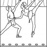 דף צביעה רקדן ורקדנית בלט