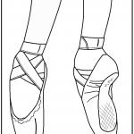 דף צביעה נעלי רקדנית בלט 1