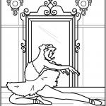 דף צביעה רקדנית בלט 2
