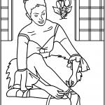 דף צביעה רקדנית בלט 1
