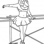 דף צביעה רקדנית בלט 20