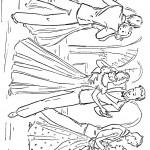 דף צביעה זוגות בריקוד סלוני