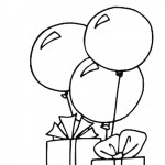 דף צביעה בלונים ומתנות