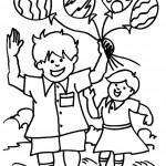 ילדים משחקים בבלונים