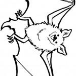 דף צביעה עטלף 3